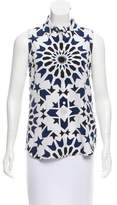 Equipment Printed Sleeveless Top