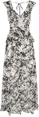 MISA Los Angeles Claudita Abstract Maxi Dress