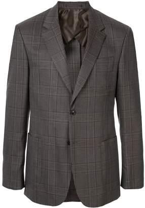 Cerruti plaid print tailored blazer