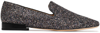 Jimmy Choo Glittered Leather Loafers