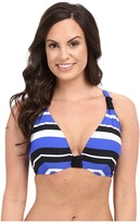 Seafolly Walk the Line F Cup Halter Top
