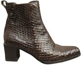 Bally Brown Exotic leathers Ankle boots