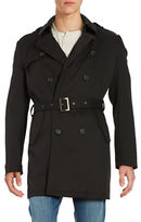 Calvin Klein Water Repellant Double-Breasted Belted Trench Coat