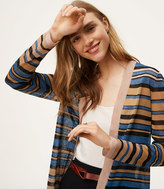 LOFT Striped Open Cardigan