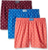 Original Penguin Men's 3-Pack Woven Boxers