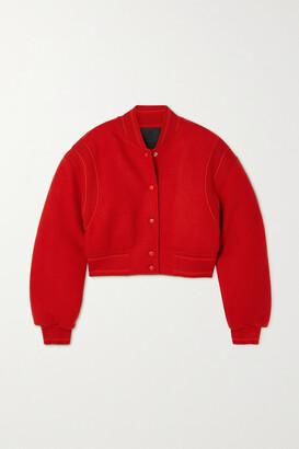 Givenchy - Cropped Paneled Wool Bomber Jacket - Red