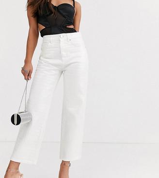 Asos DESIGN Petite Florence authentic straight leg jeans in iridescent croc-Multi