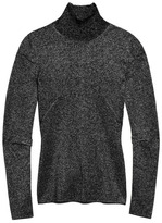 Alexander Wang Preorder Lurex Wrapped Rib Ribbed Turtleneck With Pinched Darts