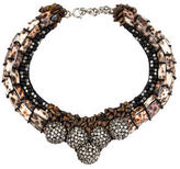 Etro Crystal & Shell Collar Necklace