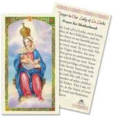 Gifts by Lulee Prayer to OUR Lady of La Leche Laminated Prayer Card Blessed By Pope Francis