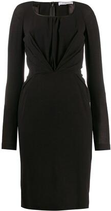 Givenchy Pre-Owned 2000's Draped Midi Dress