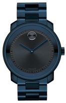 Movado Bold Blue IP Stainless Steel Bracelet Watch
