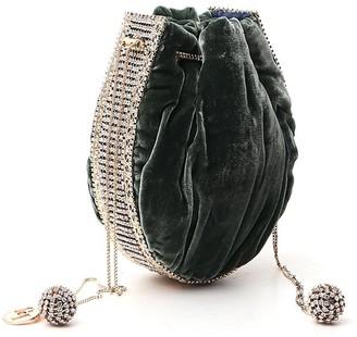 Rosantica Crystal-Embellished Drawstring Bag