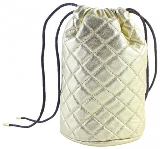Burberry Gold Synthetic Backpacks