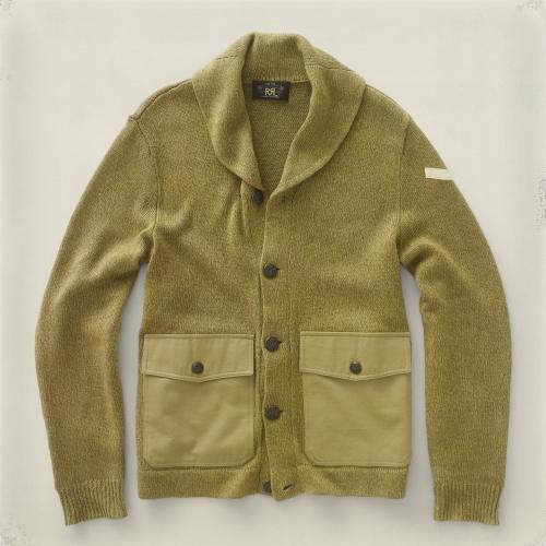 RRL Shawl-Collar Cardigan