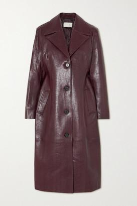 LVIR Faux Leather Coat - Burgundy