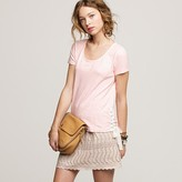 Stripe lace-up tee