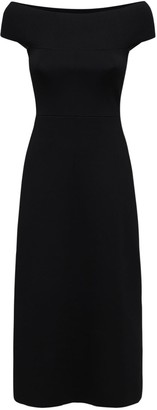 Victoria Beckham Off-the-shoulder Knit Midi Dress