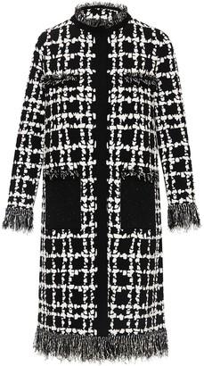 Oscar de la Renta Tweed Single-Breasted Coat