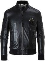 Philipp Plein Exagonal Biker Leather Jacket