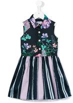 Young Versace - printed flared dress - kids - Cotton/Polyamide/Polyester/Spandex/Elastane - 6 yrs