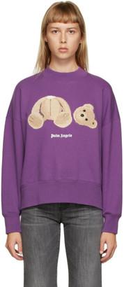 Palm Angels Purple Bear Sweatshirt