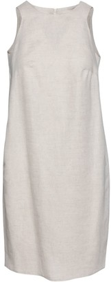 Conquista Sand Colour Sleeveless Sack Dress