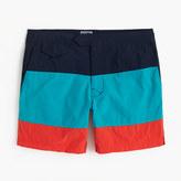"J.Crew 6.5"" Tab Swim Short In Blue Colorblock"