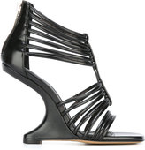 Rick Owens strappy wedge sandals - women - Calf Leather/Leather/rubber - 37