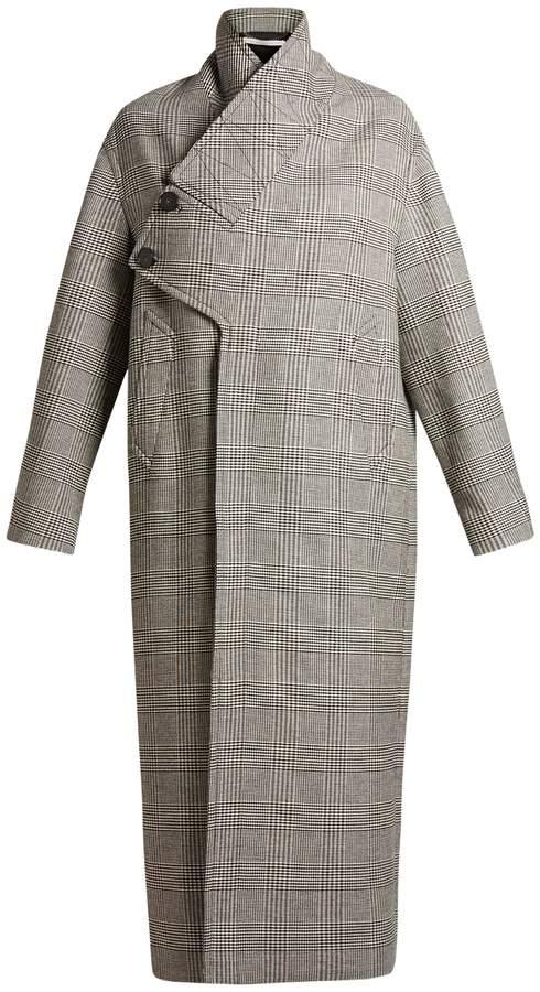 Stella McCartney Prince of Wales-checked oversized coat