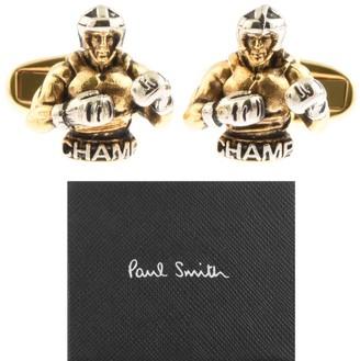 Paul Smith Boxer Cufflinks Set Gold