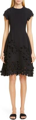 PASKAL clothes Floral Applique Fit & Flare Dress