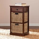 Southern Enterprises Morris 2-Basket Storage Shelf