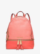 Michael Kors Rhea Medium Color-Block Leather Backpack