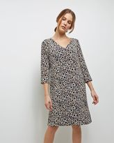 Jaeger Silk Spot Animal Print Dress