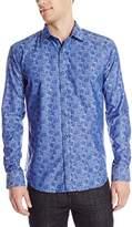 Bugatchi Men's Gustavo Long Sleeve Shaped Button Down Shirt