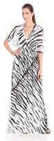 Rachel Zoe Women's Eugine Tiger Print Chiffon Caftan Maxi Dress