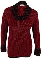 Calvin Klein Women's Cowl Neck with Grid Stripe