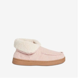 Joe Fresh Women's Fold-Over Slippers, Pink (Size S)