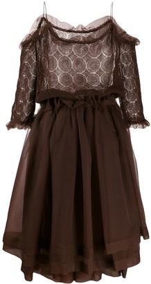 Romeo Gigli Pre Owned 1990's sheer layered dress