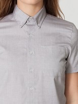 Oxford Unisex Pinpoint Short Sleeve Button-Down with Pocket
