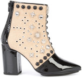 Toga Pulla studded ankle boots - women - Cotton/Patent Leather/Metal (Other) - 36