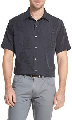 Van Heusen Air Sandwashed Short Sleeve Button-Down Camp Shirt
