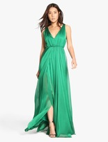 Halston Iridescent Chiffon Gown
