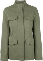 Closed high neck zipped jacket - women - Cotton/Viscose - S