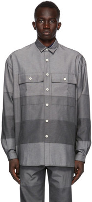 Sunnei Grey Paneled Over Shirt