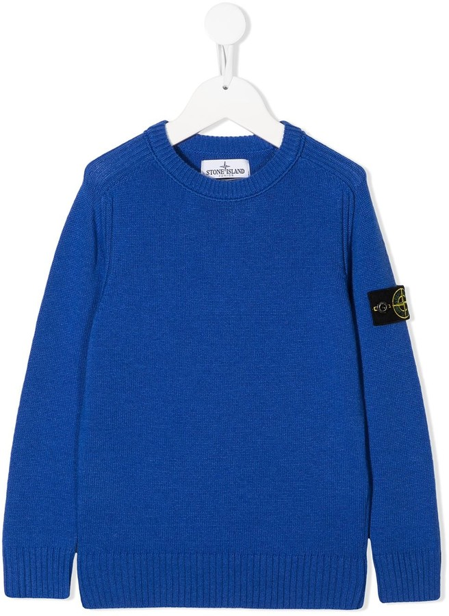 Stone Island Junior Logo-Patch Sweater