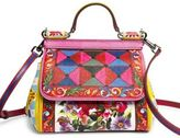 Dolce & Gabbana Mini Miss Sicily Printed Leather Top-Handle Bag