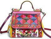 Dolce & Gabbana Mini Miss Sicily Printed Leather Top-Handle Bag