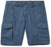 Michael Kors Garment-Dyed Stretch-Cotton Twill Cargo Shorts